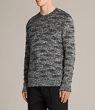 Men's Sven Crew Jumper (Black) - Image 3