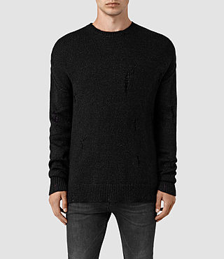 Men's Ektarr Crew Jumper (Black) - product_image_alt_text_1