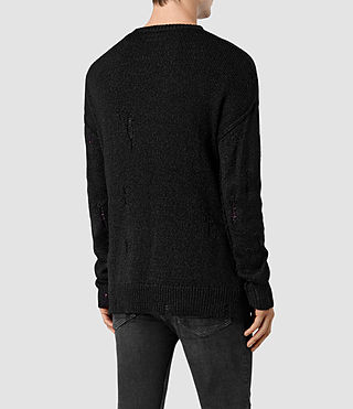 Men's Ektarr Crew Jumper (Black) - product_image_alt_text_4