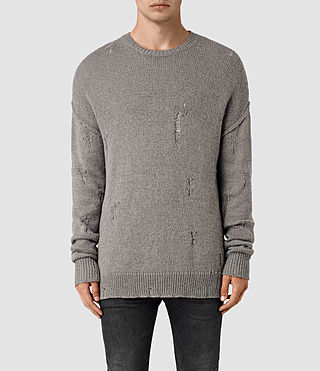 Mens Ektarr Crew Jumper (Grey) - product_image_alt_text_1