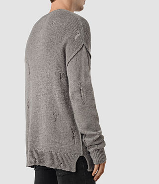 Mens Ektarr Crew Jumper (Grey) - product_image_alt_text_2
