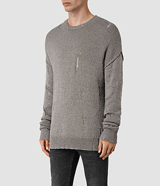 Mens Ektarr Crew Jumper (Grey) - product_image_alt_text_3