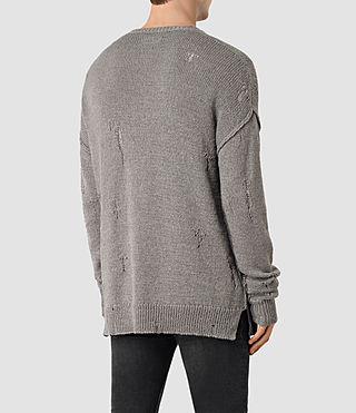 Mens Ektarr Crew Jumper (Grey) - product_image_alt_text_4