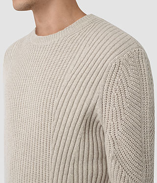 Mens Hiren Crew Jumper (Taupe Marl) - product_image_alt_text_2