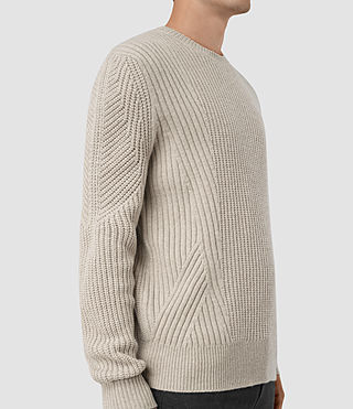 Mens Hiren Crew Jumper (Taupe Marl) - product_image_alt_text_3