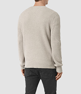 Mens Hiren Crew Jumper (Taupe Marl) - product_image_alt_text_5