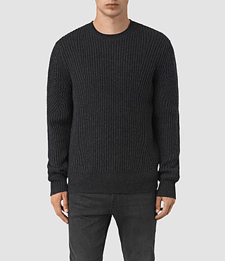 Men's Hiren Crew Jumper (Cinder Black Marl)