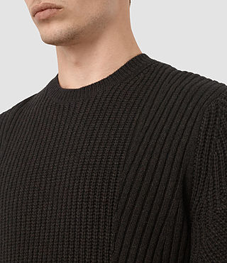 Uomo Hiren Crew Jumper (BITTER BLACK MARL) - product_image_alt_text_2