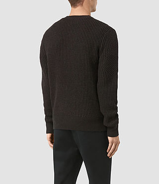 Uomo Hiren Crew Jumper (BITTER BLACK MARL) - product_image_alt_text_4