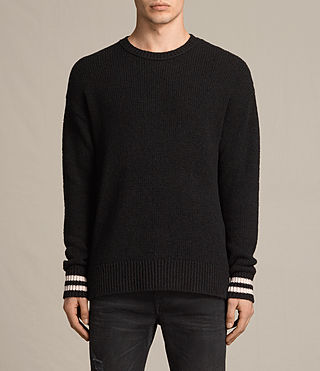 Mens Rylatt Crew Sweater (Black) - product_image_alt_text_1