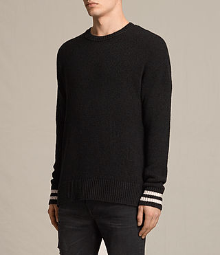Mens Rylatt Crew Sweater (Black) - product_image_alt_text_2