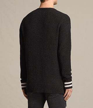 Men's Rylatt Crew Jumper (Black) - product_image_alt_text_3