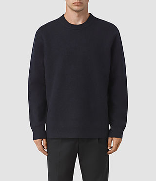 Mens Wregan Crew Sweater (INK NAVY)