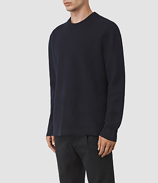 Hombres Wregan Crew Jumper (INK NAVY) - product_image_alt_text_2