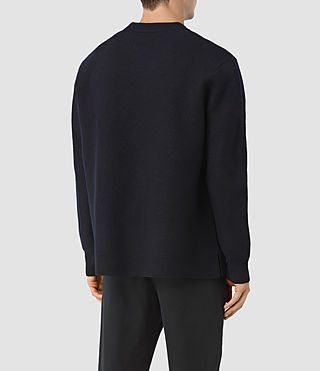 Men's Wregan Crew Jumper (INK NAVY) - product_image_alt_text_3