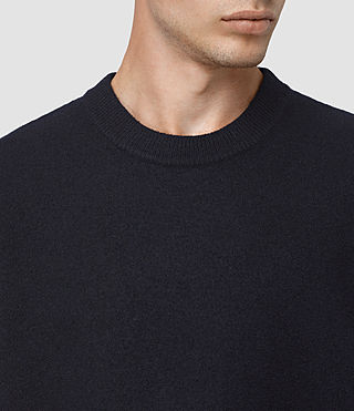 Men's Wregan Crew Jumper (INK NAVY) - product_image_alt_text_4