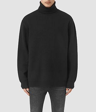 Mens Wregan Funnel Sweater (Black)