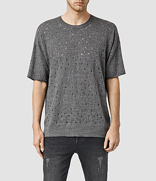 Men's Blink Short Sleeve Crew Jumper (Dark Charcoal Mrl)
