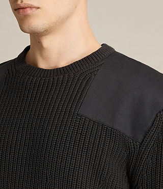 Mens Byde Crew Sweater (Slate Black)