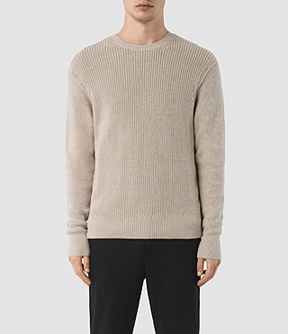 Mens Rothay Crew Sweater (Taupe Marl) - product_image_alt_text_1