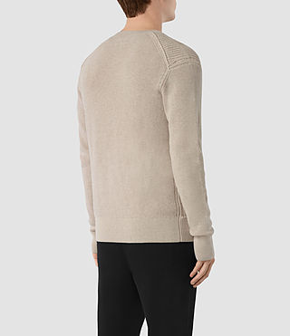 Hombres Rothay Crew Jumper (Taupe Marl) - product_image_alt_text_4