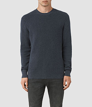 Mens Rothay Crew Sweater (Workers Blue) - product_image_alt_text_1
