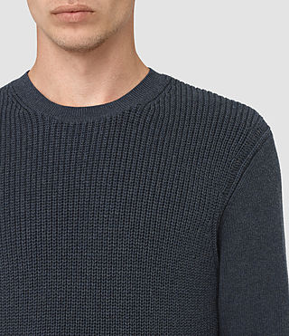 Hommes Rothay Crew Jumper (Workers Blue) - product_image_alt_text_2