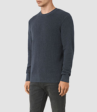 Mens Rothay Crew Sweater (Workers Blue) - product_image_alt_text_3