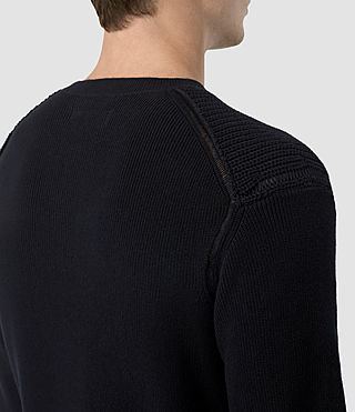 Men's Rothay Crew Jumper (INK NAVY) - product_image_alt_text_2