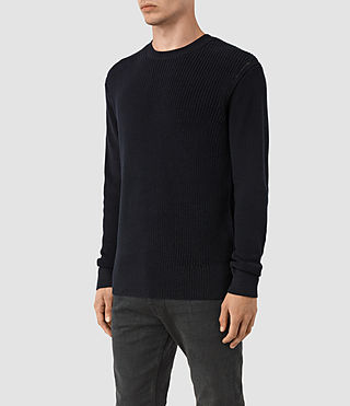 Hombres Rothay Crew Jumper (INK NAVY) - product_image_alt_text_3