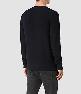 Men's Rothay Crew Jumper (INK NAVY) - product_image_alt_text_4