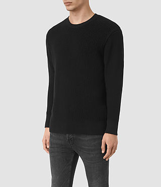 Mens Rothay Crew Sweater (Black) - product_image_alt_text_2