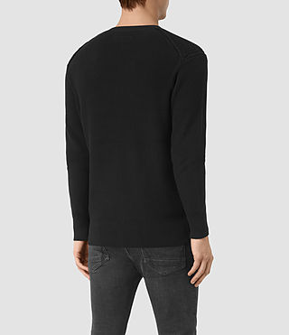 Mens Rothay Crew Sweater (Black) - product_image_alt_text_3