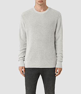 Hombres Rothay Crew Jumper (Light Grey Marl)