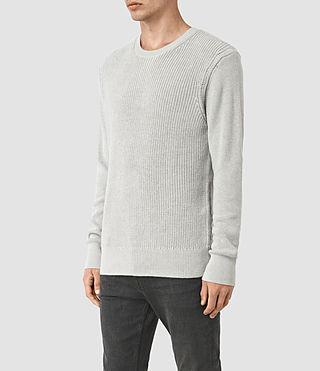 Hombre Rothay Crew Sweater (Light Grey Marl) - product_image_alt_text_2