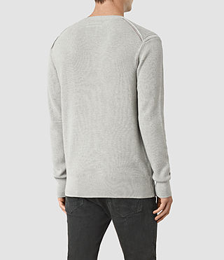 Hombre Rothay Crew Sweater (Light Grey Marl) - product_image_alt_text_3