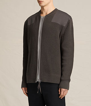 Mens Byde Zip Through Sweater (SAGE GREEN) - product_image_alt_text_3
