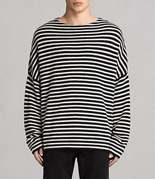 Mens Marcel Crew Sweater (INKNAVY/ECRUWHITE) - product_image_alt_text_1