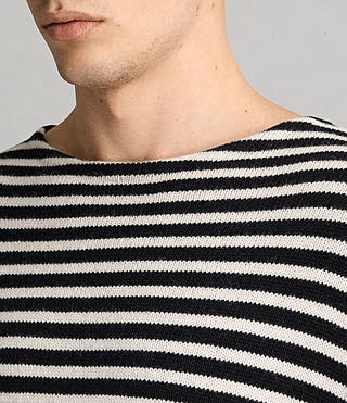 Mens Marcel Crew Sweater (INKNAVY/ECRUWHITE) - product_image_alt_text_2