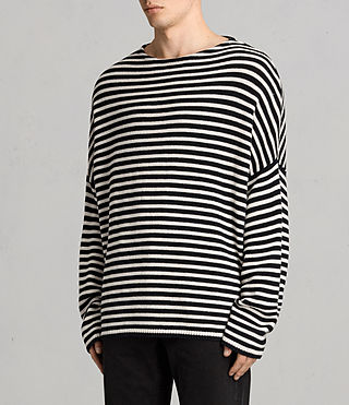 Mens Marcel Crew Sweater (INKNAVY/ECRUWHITE) - product_image_alt_text_3