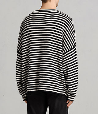 Mens Marcel Crew Sweater (INKNAVY/ECRUWHITE) - product_image_alt_text_4