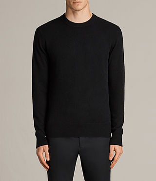 Men's Hale Cashmere Crew Jumper (Black) - Image 1