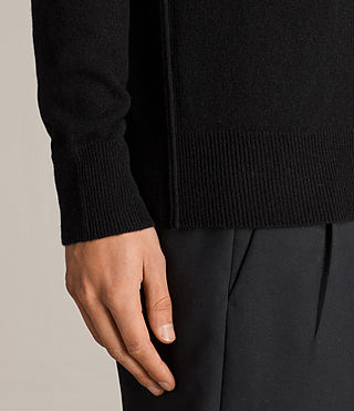 Men's Hale Cashmere Crew Jumper (Black) - Image 2