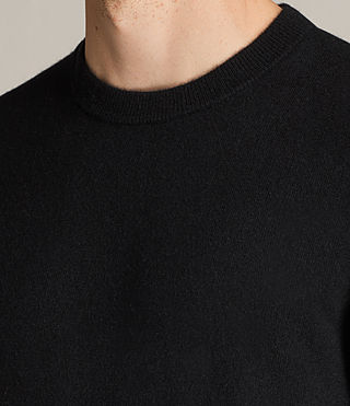Men's Hale Cashmere Crew Jumper (Black) - Image 3
