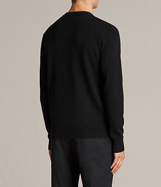 Men's Hale Cashmere Crew Jumper (Black) - Image 5