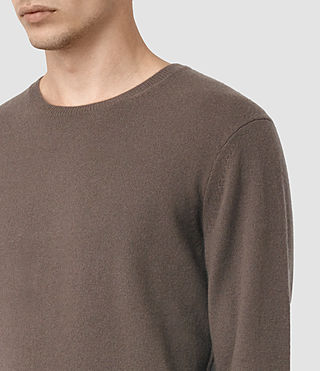 Hombre Mont Cashmere Crew (BATTLE BROWN) - product_image_alt_text_2