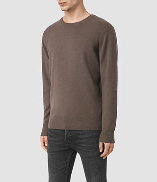 Hombre Mont Cashmere Crew (BATTLE BROWN) - product_image_alt_text_3