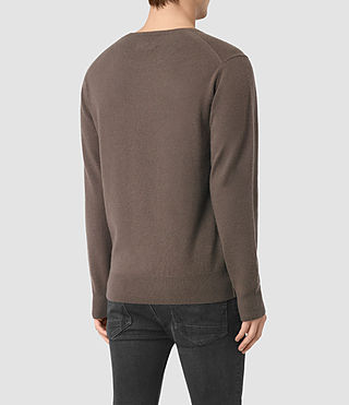 Hombre Mont Cashmere Crew (BATTLE BROWN) - product_image_alt_text_4