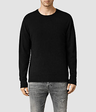 Mens Mont Cashmere Crew Sweater (Black)