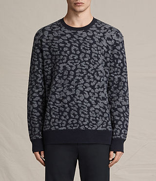 Mens Dima Crew Sweater (INK NAVY)